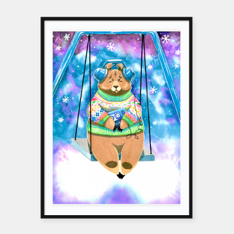 Thumbnail image of bear swing Framed poster, Live Heroes