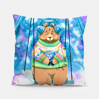 Thumbnail image of bear swing Pillow, Live Heroes