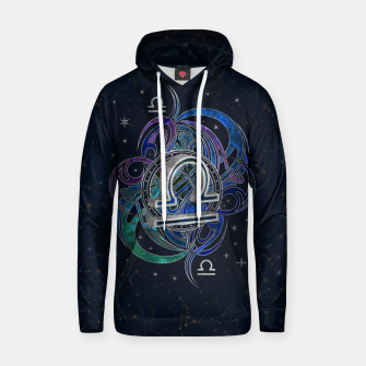 Thumbnail image of Libra Zodiac Sign Air Element Cotton hoodie, Live Heroes