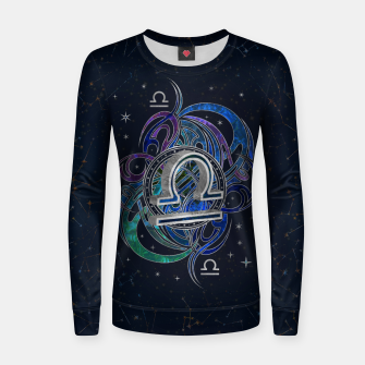 Thumbnail image of Libra Zodiac Sign Air Element Woman cotton sweater, Live Heroes
