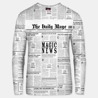The Daily Mage Magic Fantasy Newspaper Cotton sweater thumbnail image