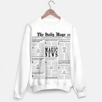 Thumbnail image of The Daily Mage Magic Fantasy Newspaper Sweater regular, Live Heroes