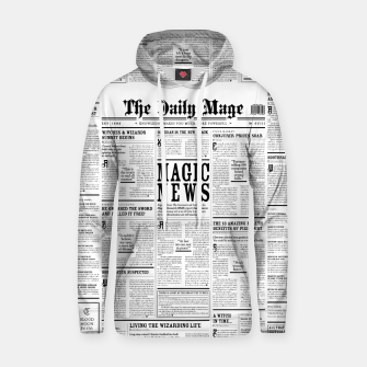 The Daily Mage Magic Fantasy Newspaper Cotton hoodie thumbnail image