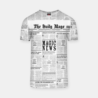 Thumbnail image of The Daily Mage Magic Fantasy Newspaper T-shirt, Live Heroes