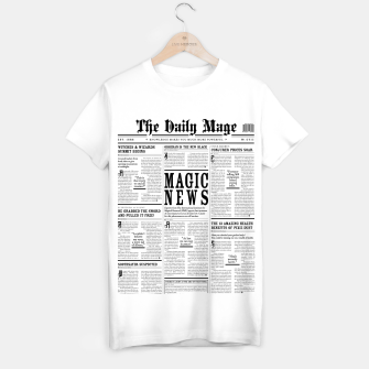 The Daily Mage Magic Fantasy Newspaper T-shirt regular thumbnail image