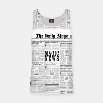 The Daily Mage Magic Fantasy Newspaper Tank Top thumbnail image