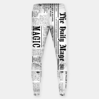 Thumbnail image of The Daily Mage Magic Fantasy Newspaper Cotton sweatpants, Live Heroes