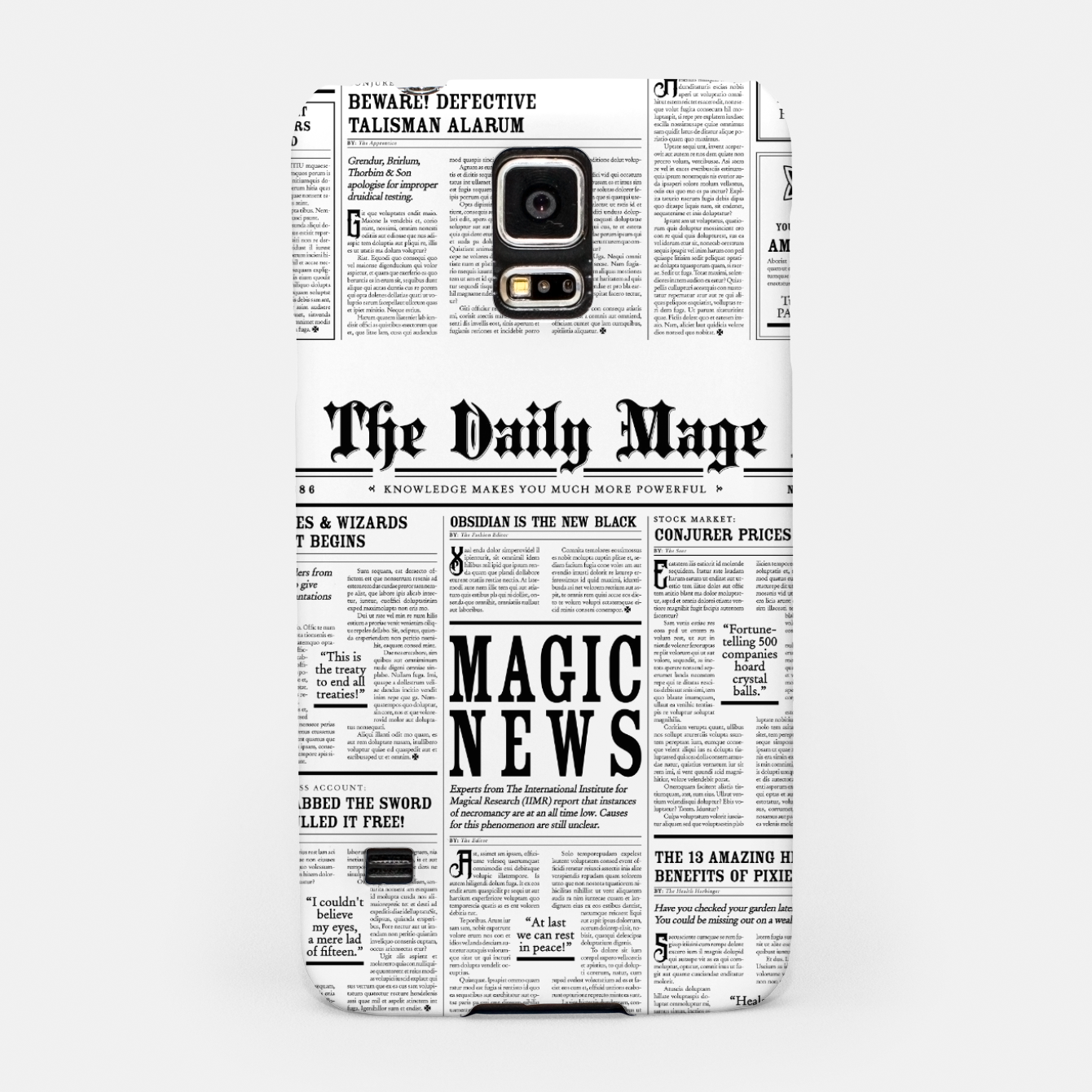 Image of The Daily Mage Magic Fantasy Newspaper Samsung Case - Live Heroes