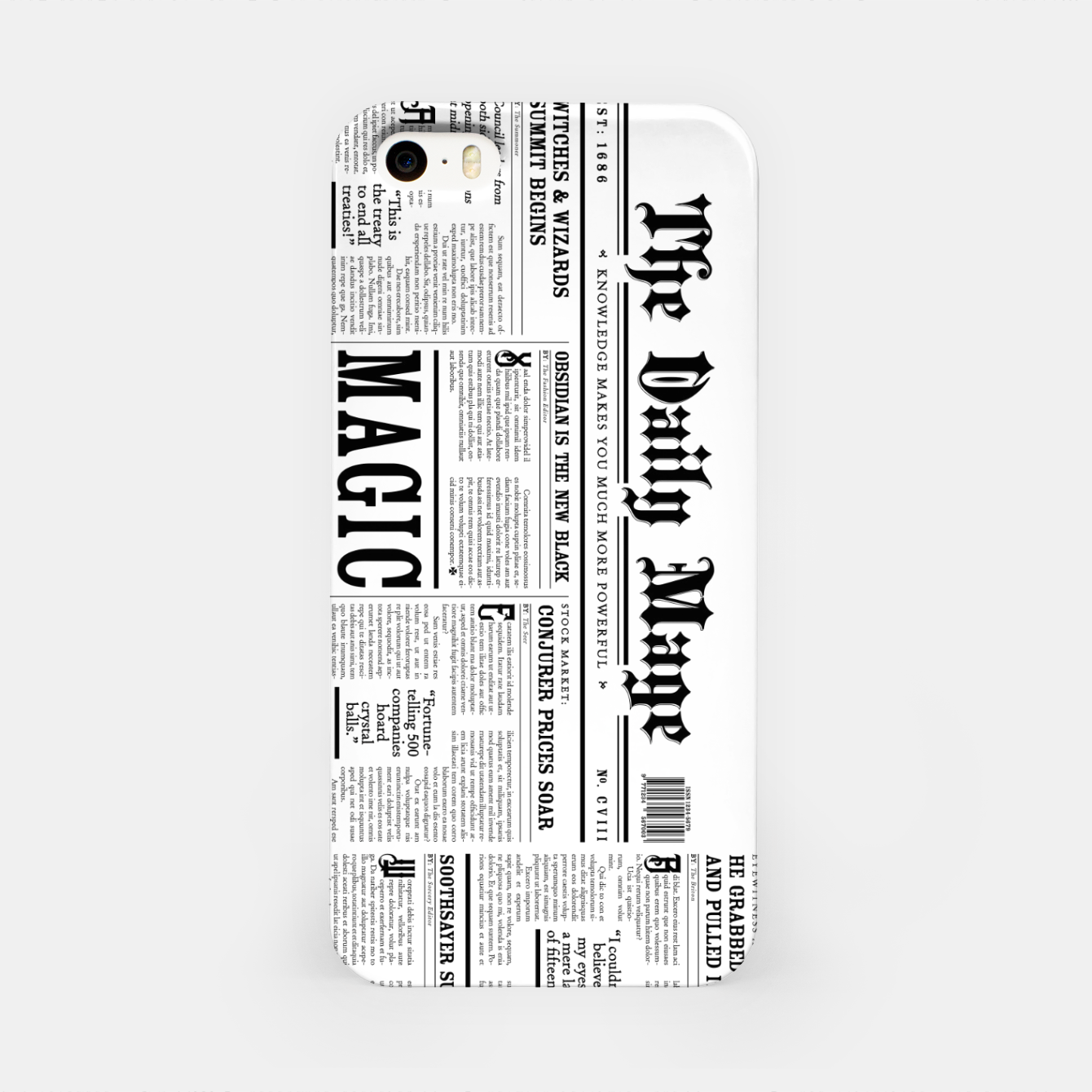 Image of The Daily Mage Magic Fantasy Newspaper iPhone Case - Live Heroes