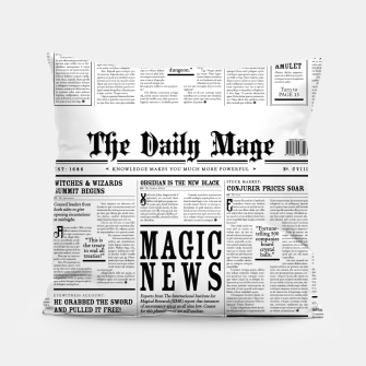 The Daily Mage Magic Fantasy Newspaper Pillow thumbnail image