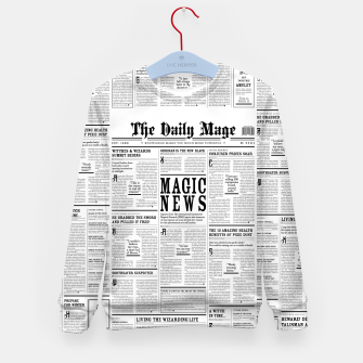 The Daily Mage Magic Fantasy Newspaper Kid's sweater thumbnail image