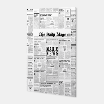 The Daily Mage Magic Fantasy Newspaper Canvas thumbnail image