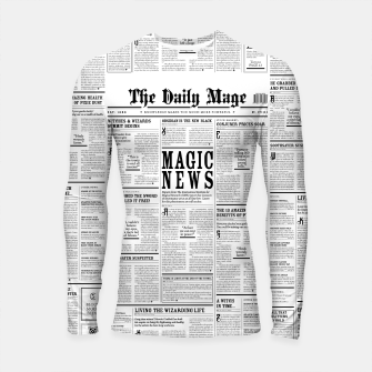 The Daily Mage Magic Fantasy Newspaper Longsleeve rashguard  thumbnail image