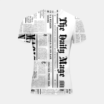 Thumbnail image of The Daily Mage Magic Fantasy Newspaper Shortsleeve rashguard, Live Heroes