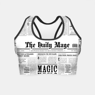 Thumbnail image of The Daily Mage Magic Fantasy Newspaper Crop Top, Live Heroes
