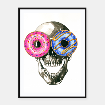 Thumbnail image of donuts Framed poster, Live Heroes