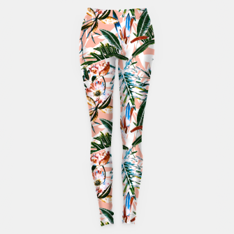 Thumbnail image of Vibrant botanical dreams  Leggings, Live Heroes