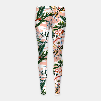 Thumbnail image of Vibrant botanical dreams  Leggings para niña, Live Heroes
