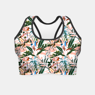 Thumbnail image of Vibrant botanical dreams  Crop Top, Live Heroes