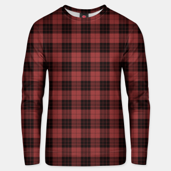 Miniatur Red and Black Tartan Check Plaid Cotton sweater, Live Heroes