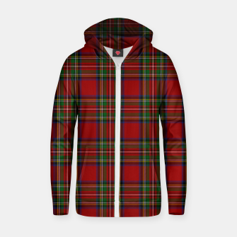 Miniatur The Royal Stewart Tartan Cotton zip up hoodie, Live Heroes