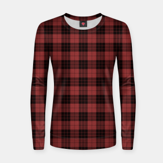 Miniatur Red and Black Tartan Check Plaid Woman cotton sweater, Live Heroes