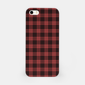 Miniatur Red and Black Tartan Check Plaid iPhone Case, Live Heroes