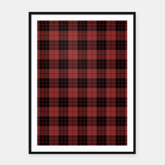 Miniatur Red and Black Tartan Check Plaid Framed poster, Live Heroes