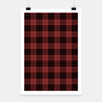 Miniatur Red and Black Tartan Check Plaid Poster, Live Heroes