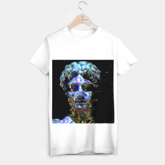 Thumbnail image of glitched statue II (T-shirt regular)(white), Live Heroes