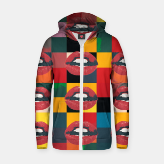 Thumbnail image of Twelve Mouths Cotton zip up hoodie, Live Heroes