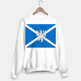 Miniatur Blue and White Scottish Flag with White Lion Sweater regular, Live Heroes