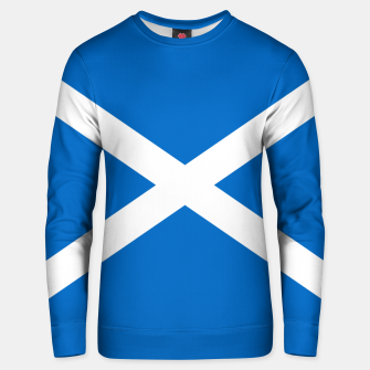 Miniatur Blue and White Scottish Flag Cotton sweater, Live Heroes