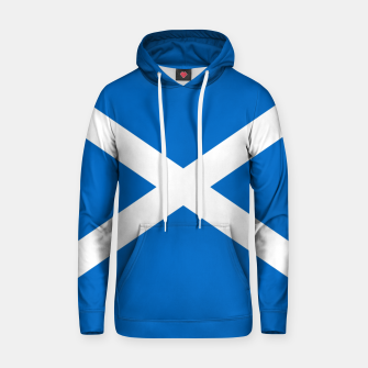 Miniatur Blue and White Scottish Flag Cotton hoodie, Live Heroes