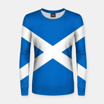 Miniatur Blue and White Scottish Flag Woman cotton sweater, Live Heroes