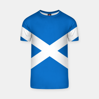 Miniatur Blue and White Scottish Flag T-shirt, Live Heroes