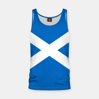 Miniatur Blue and White Scottish Flag Tank Top, Live Heroes