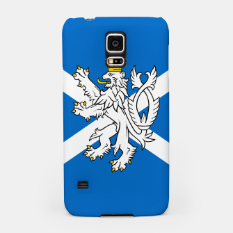Miniatur Blue and White Scottish Flag with White Lion Samsung Case, Live Heroes