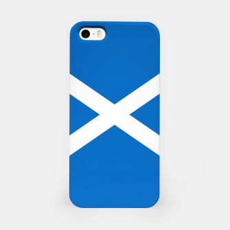 Miniatur Blue and White Scottish Flag iPhone Case, Live Heroes
