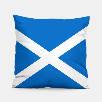 Miniatur Blue and White Scottish Flag Pillow, Live Heroes