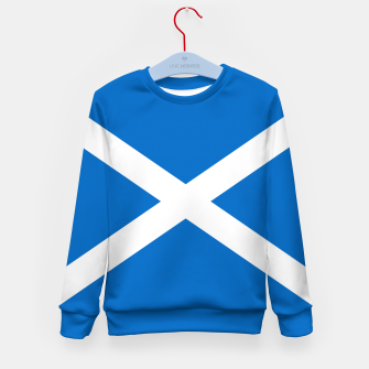 Miniatur Blue and White Scottish Flag Kid's sweater, Live Heroes