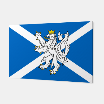 Miniatur Blue and White Scottish Flag with White Lion Canvas, Live Heroes