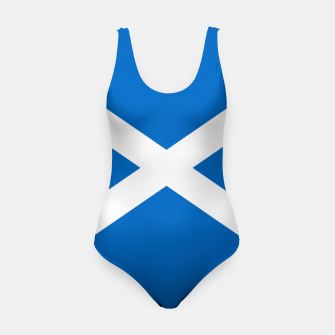 Miniatur Blue and White Scottish Flag Swimsuit, Live Heroes