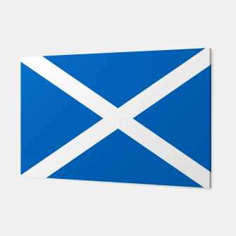 Miniatur Blue and White Scottish Flag Canvas, Live Heroes