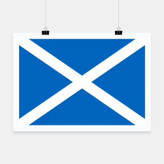 Miniatur Blue and White Scottish Flag Poster, Live Heroes