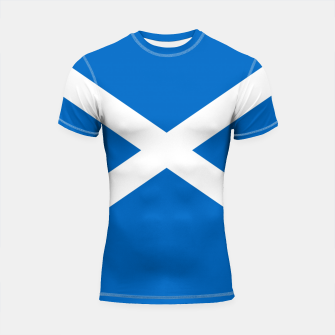 Miniatur Blue and White Scottish Flag Shortsleeve rashguard, Live Heroes