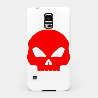 Miniatur Large Blood Red Hollow Eyed Halloween Death Skull on White Samsung Case, Live Heroes