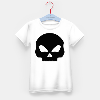 Miniature de image de Large Black Hollow Eyed Halloween Death Skull on White Kid's t-shirt, Live Heroes