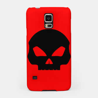 Miniature de image de Large Black Hollow Eyed Halloween Death Skull on Blood Red Samsung Case, Live Heroes