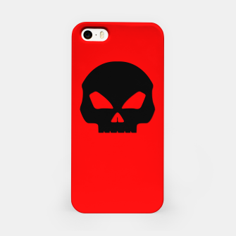 Miniature de image de Large Black Hollow Eyed Halloween Death Skull on Blood Red iPhone Case, Live Heroes